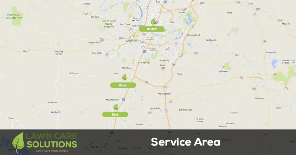 Lawn care solutions service area